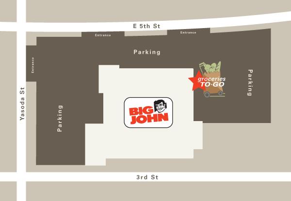 Big John Parking Map