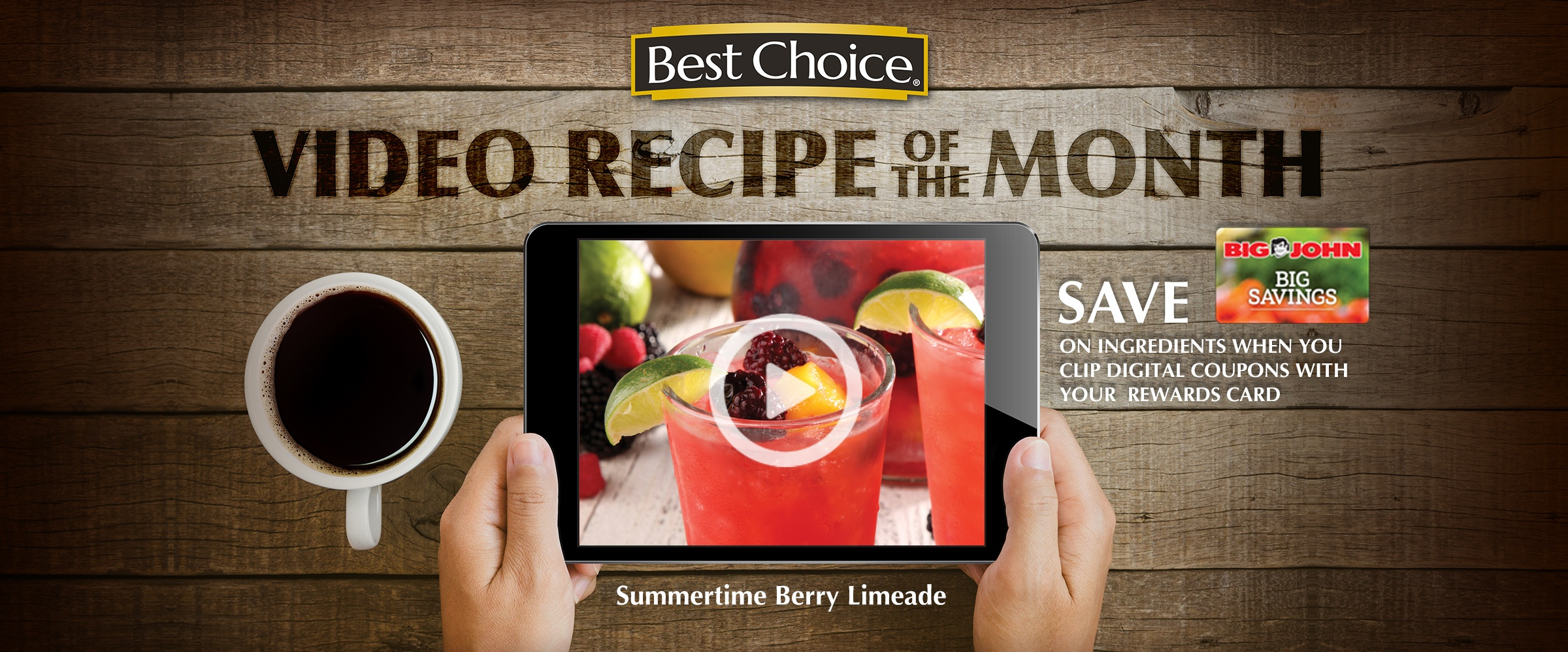 Best Choice Recipe Video: Summertime Berry Limeade