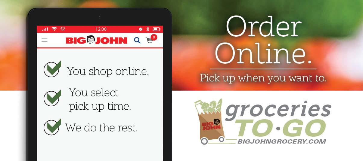 Order your groceries online.